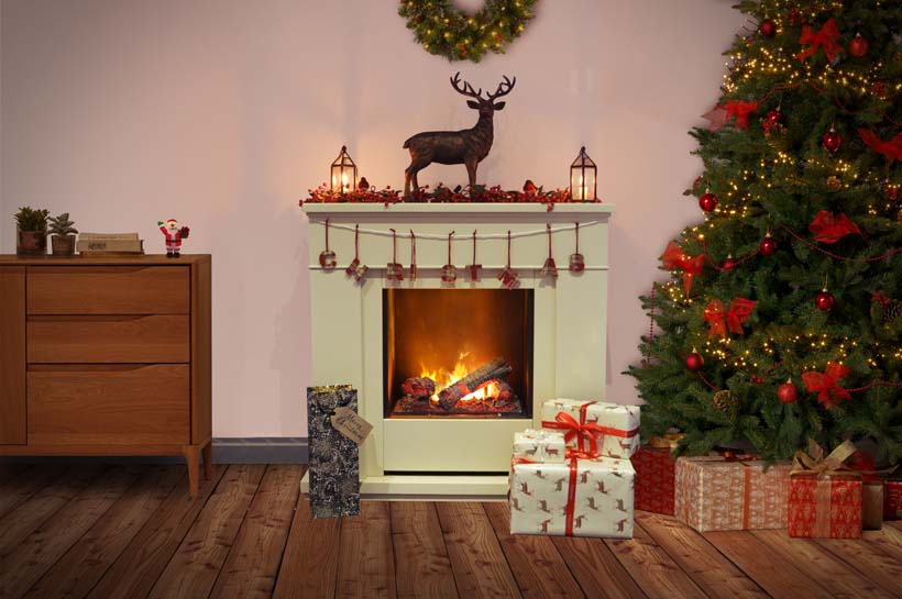 Christmas Mantle.Styling For Your Mantle Christmas Two Ways Dimplex
