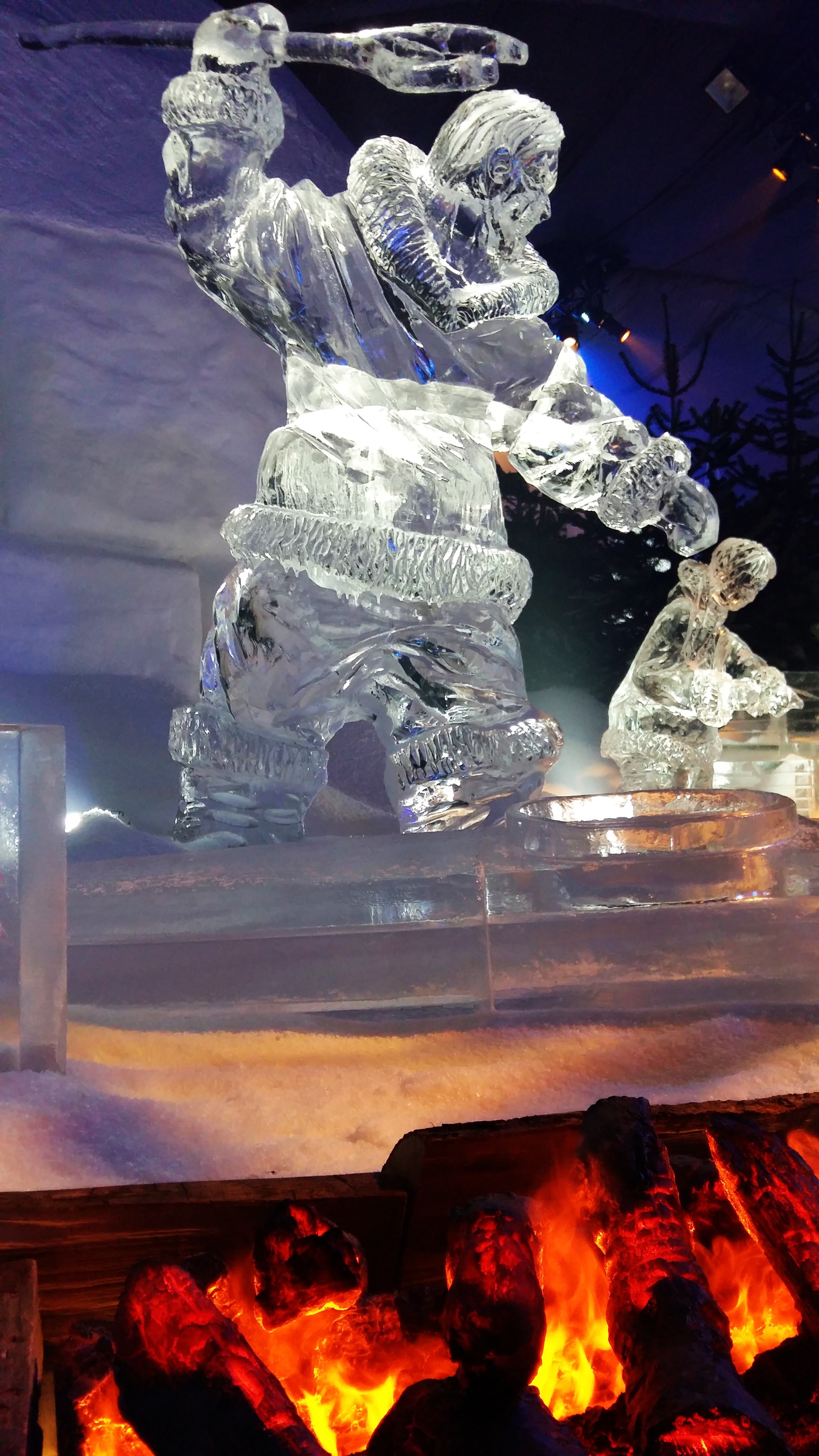 Dimplex Opti-myst Fire and Ice at Winter Wonderland