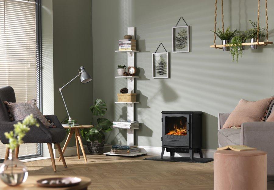 Dimplex Bari Optiflame Fire Room Image