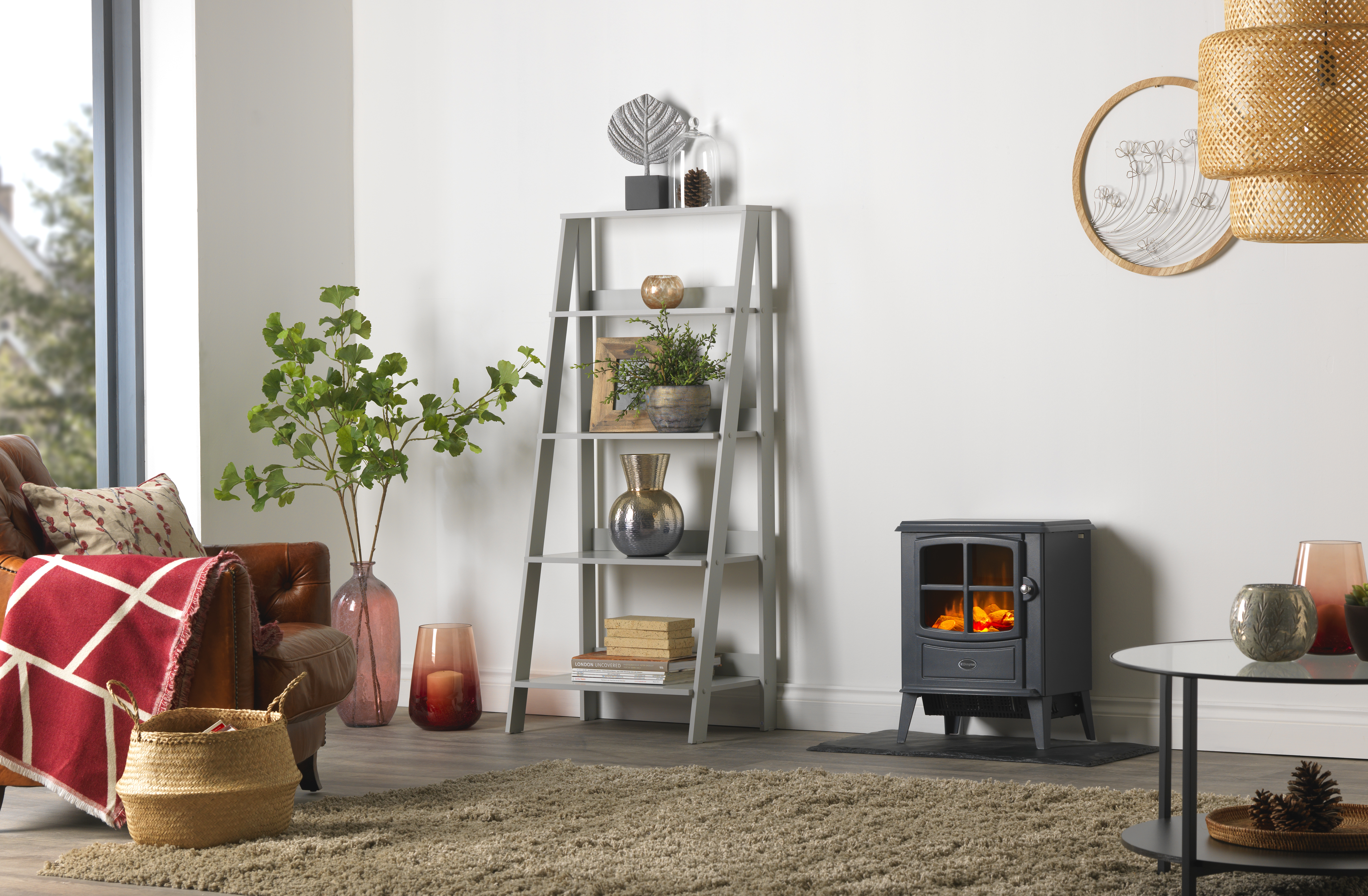 Dimplex Brayford Slate electric stove with Optiflame effect