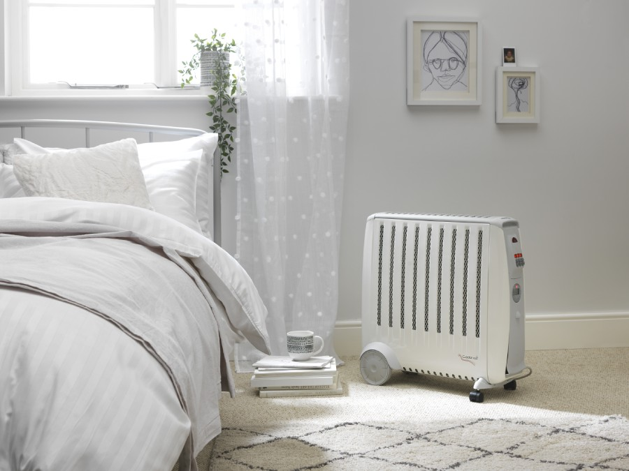 CDE2Ti Cadiz 2kW Oil-free Radiator photo in bedroom