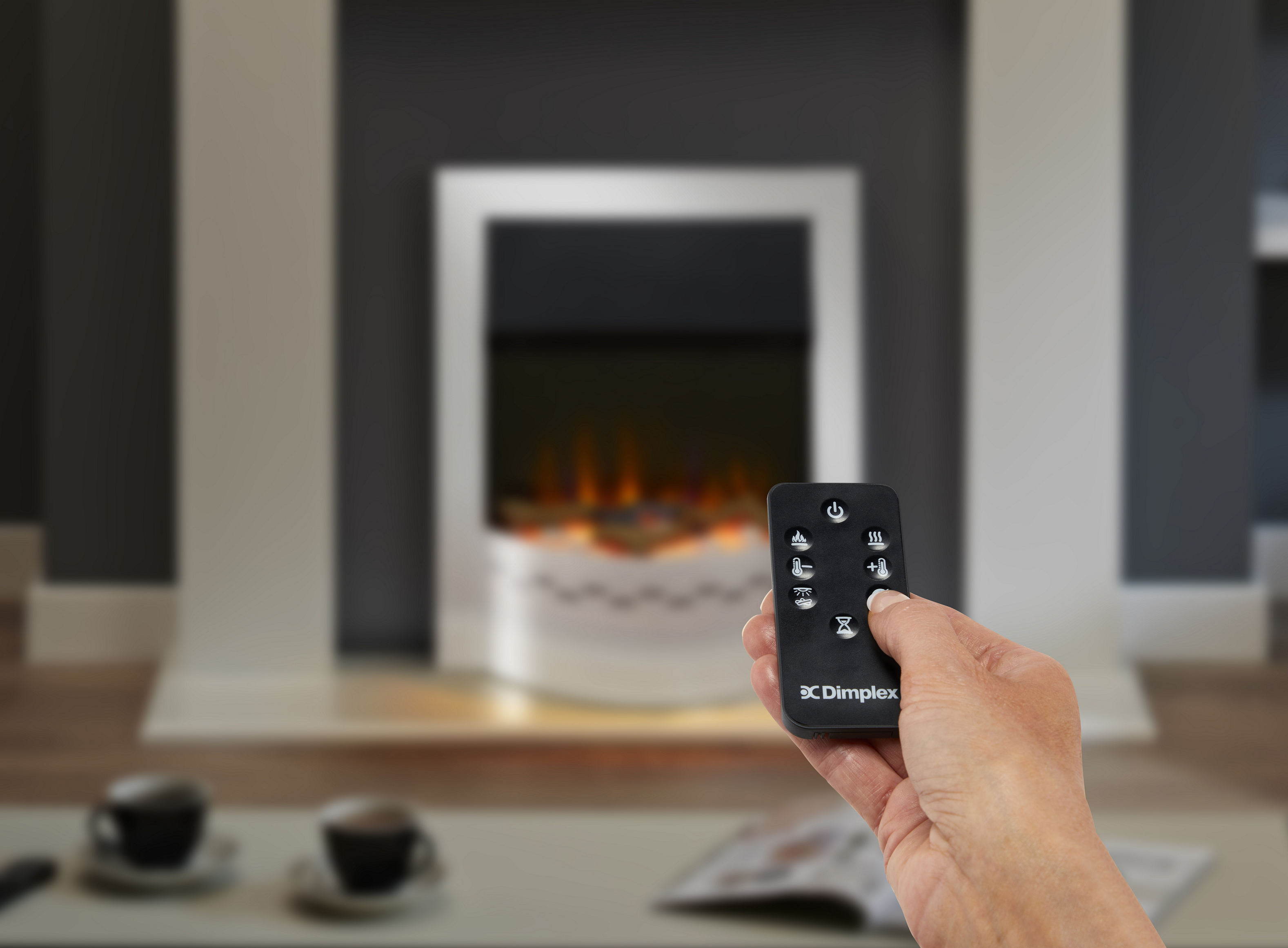 Dimplex Ellister Optiflame inset fire with remote control