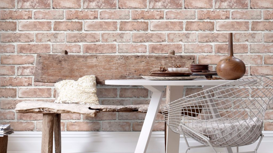 B&Q Graham and Brown Brick Wallpaper