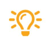 orange icon lightbulb