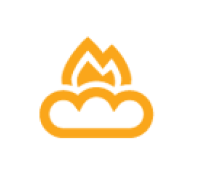 cloud and fire icon