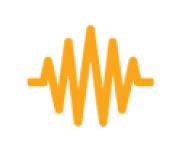 flame sound icon orange