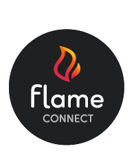 flame connect logo black circle