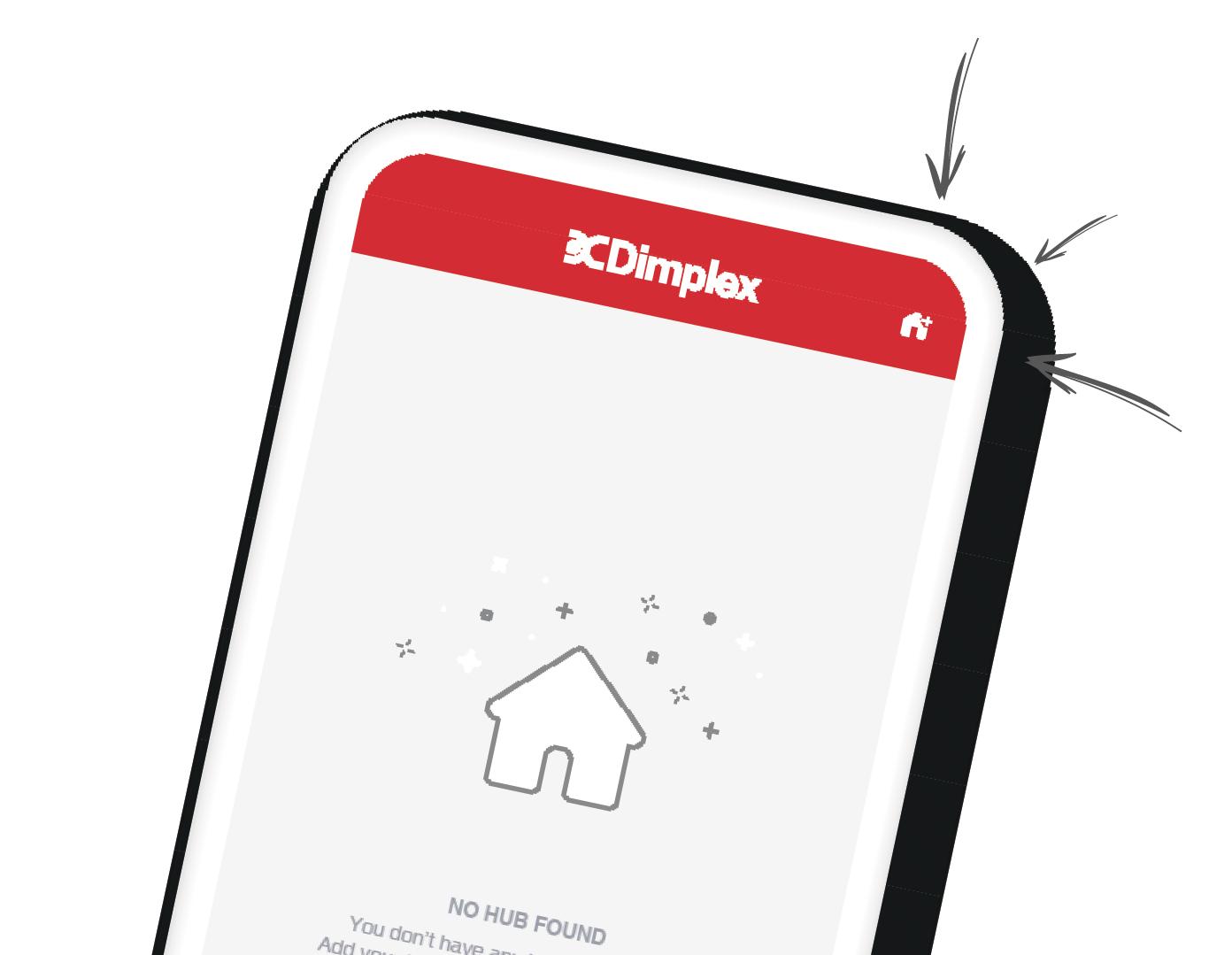 dimplex app home screen