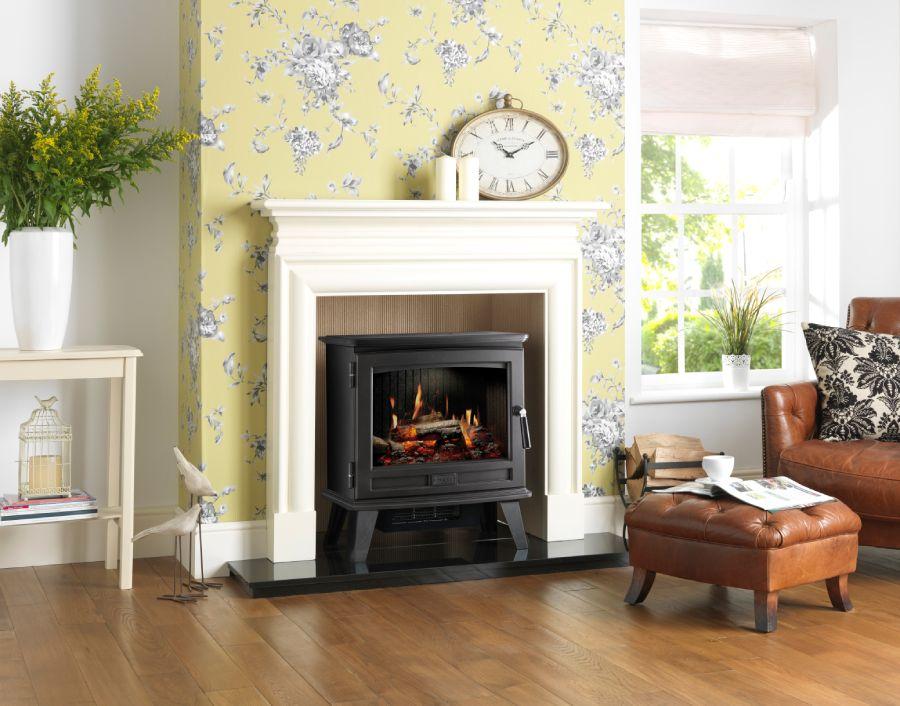 Dimplex Sunningdale Opti-V electric stove room image