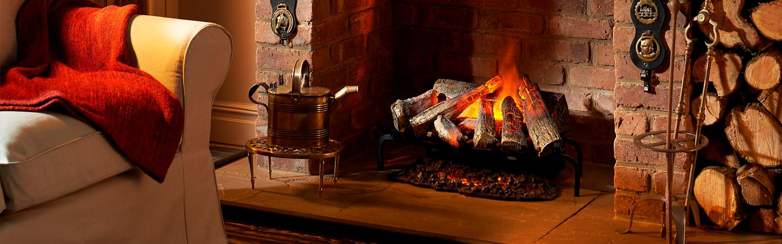 Electric Heating Basket Fires For The Home From Dimplex