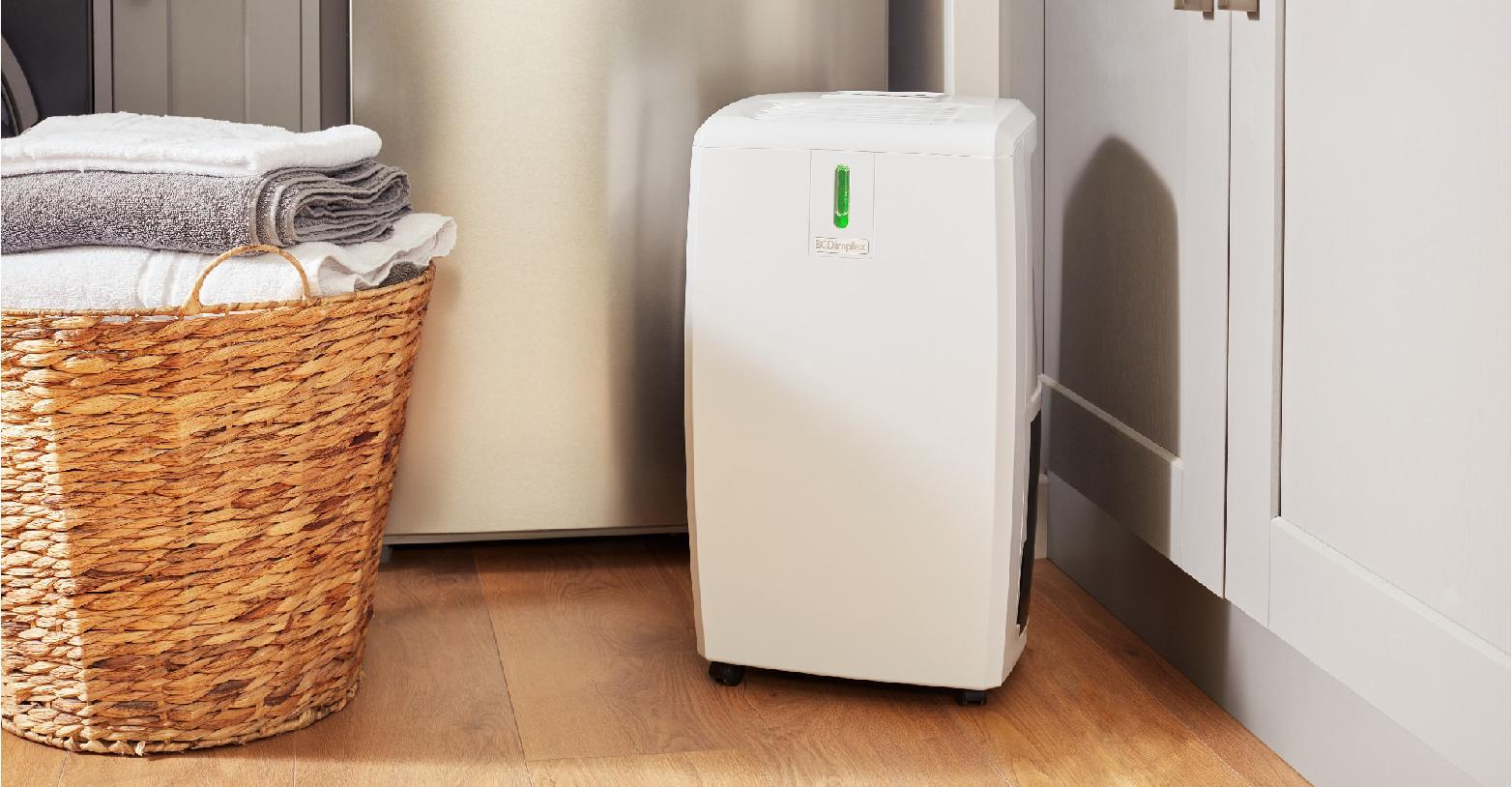 everdri dehumidifier next to laundry