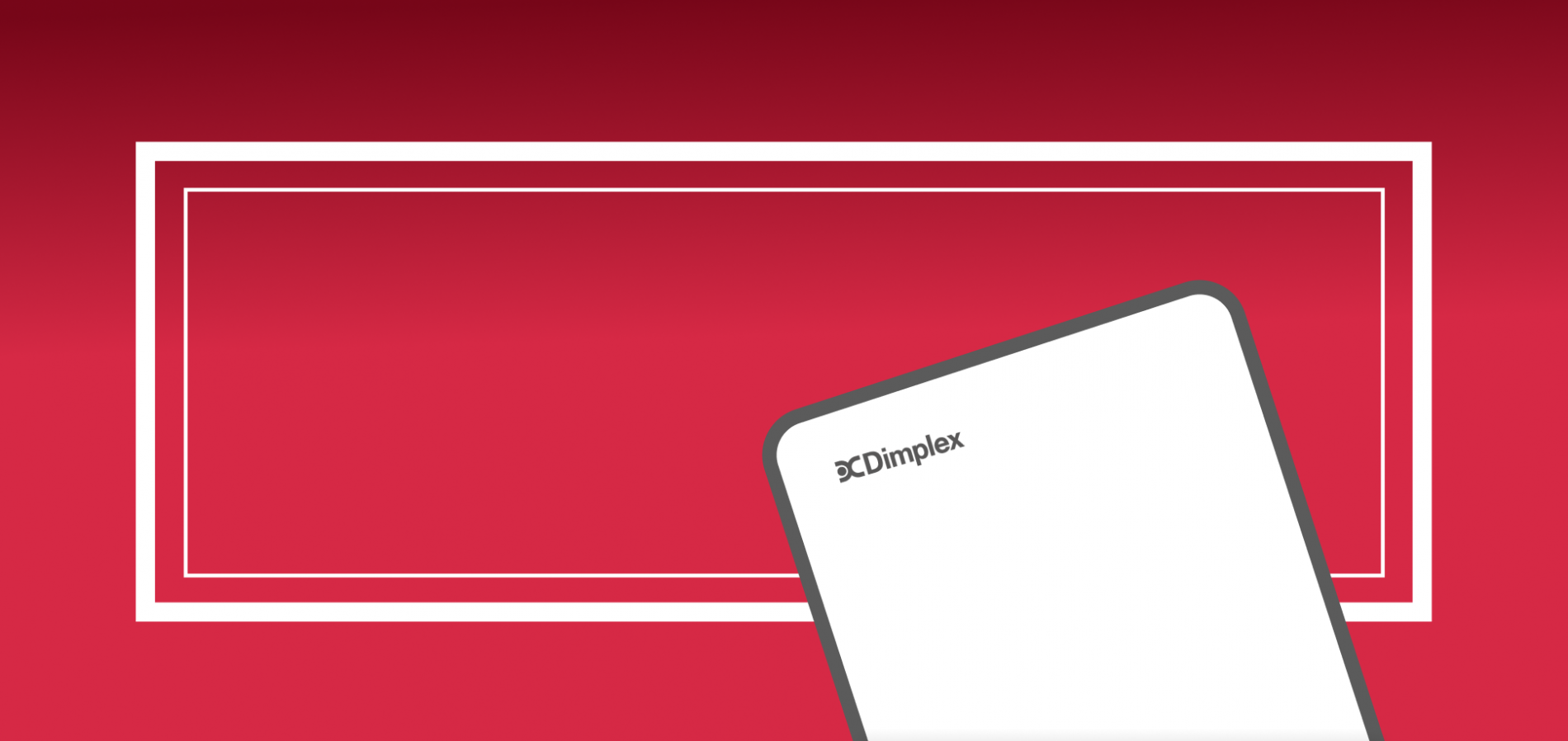 red banner for dimplex hub
