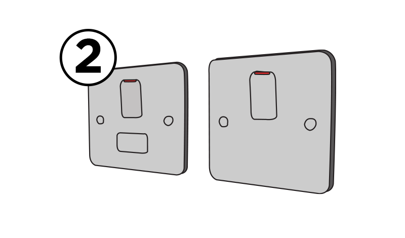 Fuse spur and wall switches
