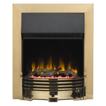Helmsdale Brass Optiflame Electric Inset Fire