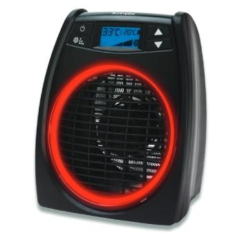 GloFan Heater DXGLO2 with red LED light ring on the front