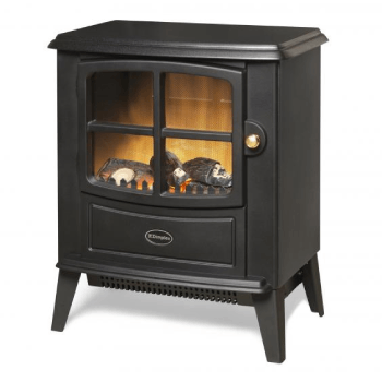 Brayford Optiflame Electric Stove Matt Black