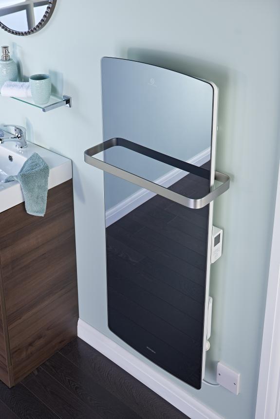 Mirrored finish Bathroom panel heater