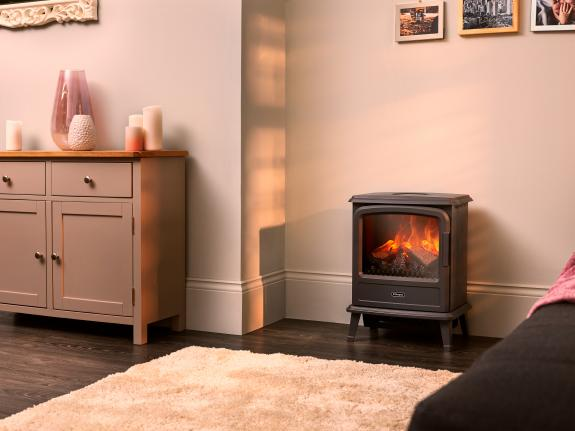 Dimplex Evandale Slate Grey Optimyst electric stove