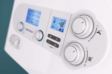 Water and heating thermostat with digital display