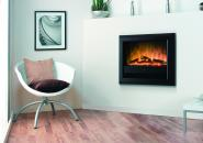 Bach wall mounted electric optiflame fire