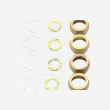 DN16 Backnut, CirClip & Washer (x4)