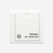 PRINTED CONTROL FLAP COVER WHITE