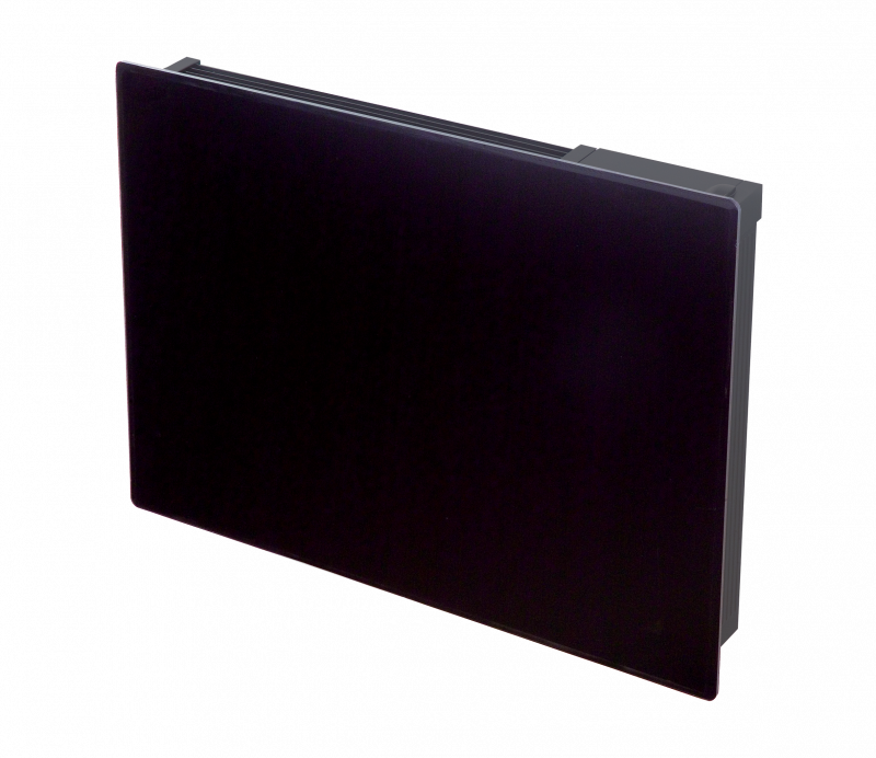 Girona 0 75kw Black Glass Fronted Panel Heater Dimplex