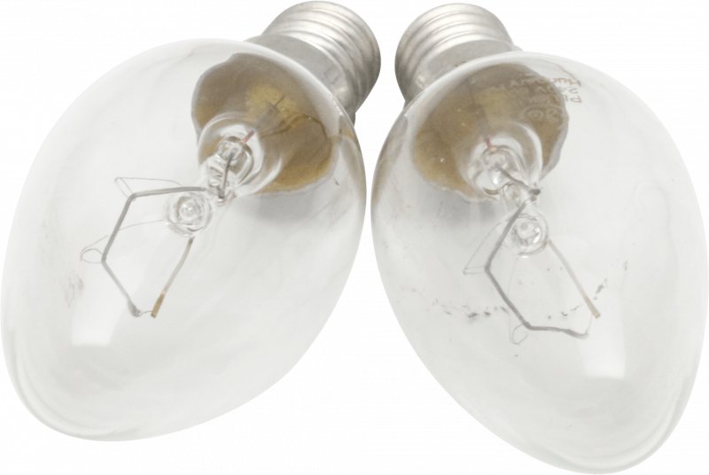 2 Pack 60W Candle Lamps For Optiflame