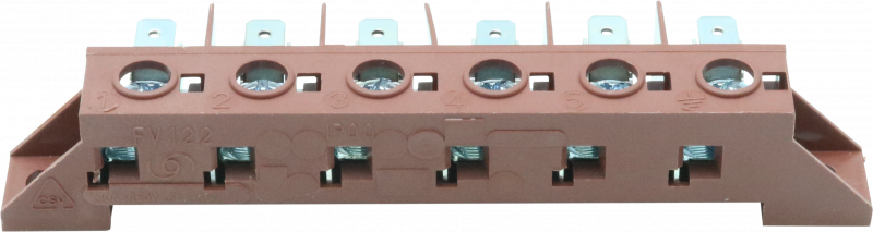 6 way mains terminal block FV122NL - 11211 - 0