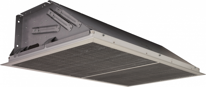 Ambient recessed air curtain