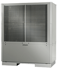 High-efficiency air-to-water heat pump with two performance levels