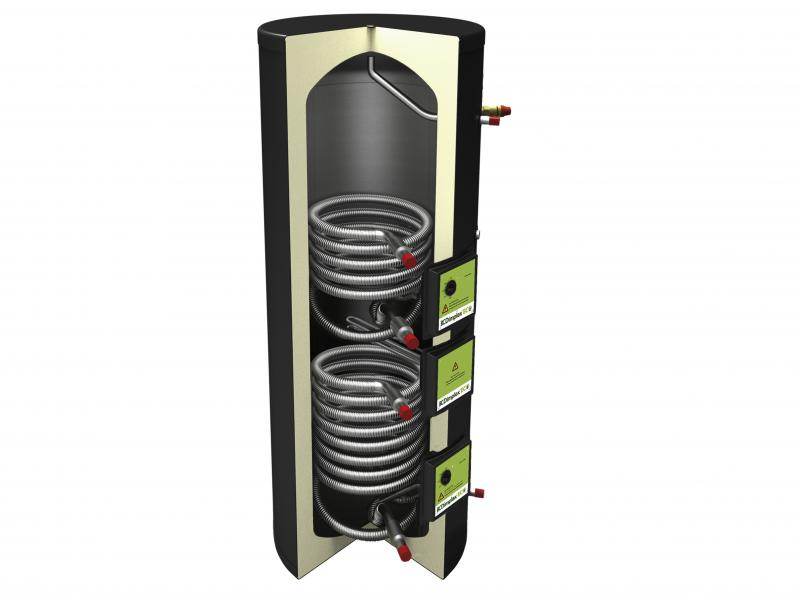 Unvented Cylinders - 210L Indirect Solar Cylinder ECSi210ST-580 - ECSi210ST-580 - 0