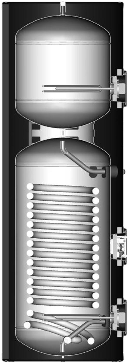 EC-Eau Heat Pump with Buffer Cutaway Solus