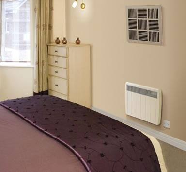 Bedroom electric panel heater