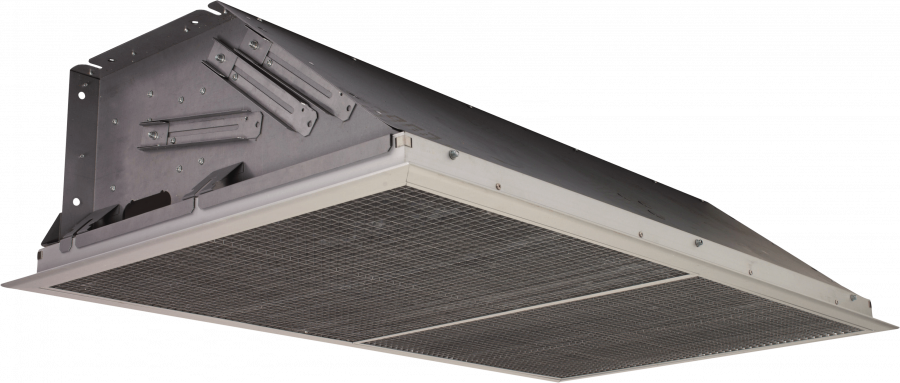 Electric recessed air curtain