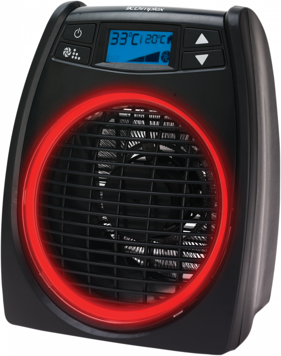 Fan Heaters - 2kW GloFan Heater with Easy to Read LCD screen - DXGLO2 - 2