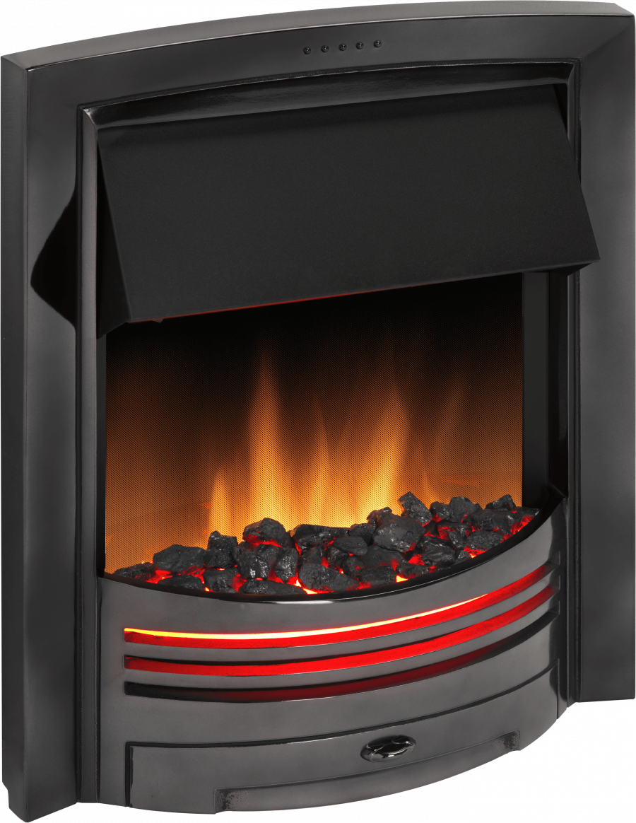 adagio black nickel optiflame electric inset fire dimplex