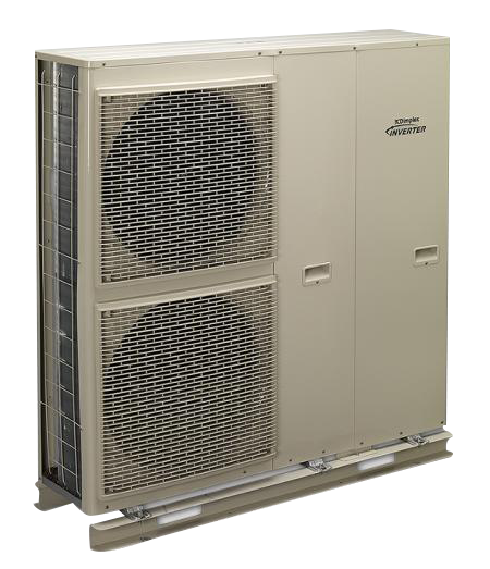 Inverter driven air source heat pump