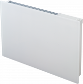 Girona white glass panel heater