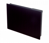 Girona black glass panel heater
