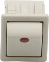 230V SWITCH GREY 12 RED WINDOW - 83083 - 0