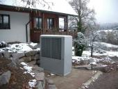 Air-to-water heat pump for outdoor installation
