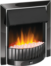 Inset Fire - Delius Black Nickel - DLS20BN-LED - 0