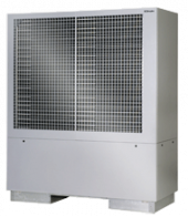 Reversible air-to-water heat pump with two performance levels