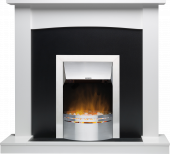 Teviot White Stone Effect Dakota Stainless Steel