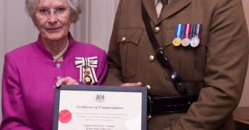 Chris Verrinder, trade and social housing manager south, for Dimplex and Lord Lieutenant of Bristol, Mary Prior MBE JP