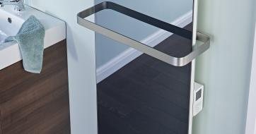 Mirrored finish Bathroom panel heater