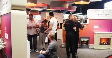 Dimplex stand at Hearth & Home 2017