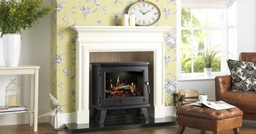 Dimplex Sunningdale electric stove with Opti-V flame effect