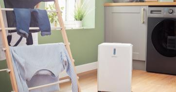 Dimplex Everdri 14L Dehumidifier in laundry room